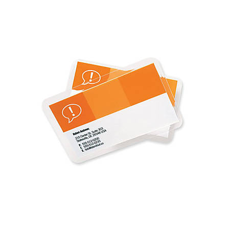 """GBC UltraClear̢㢠Thermal Laminating Pouches - Sheet Size Supported: Government - Laminating Pouch/Sheet Size: 2.63"""" Width x 3.88"""" Length x 5 mil Thickness - Glossy - for Document, Photo, ID Card - Flexible, Wear Resistant, Tear Resistant - Clear"""