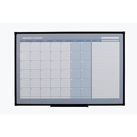 Office Depot Brand Monthly Magnetic Dry Erase Planner Board 48 x 36 ...