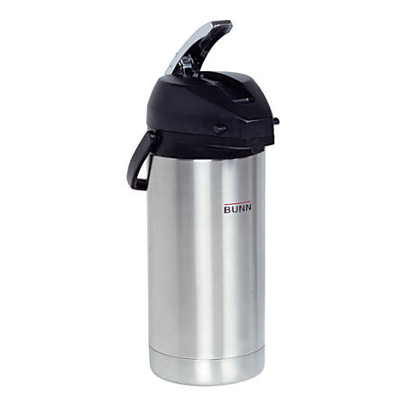 Bunn Stainless Steel Lever-Action Airpot, 3.8-Liter Capacity