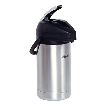 Bunn Stainless Steel Lever-Action Airpot, 3-Liter Capacity