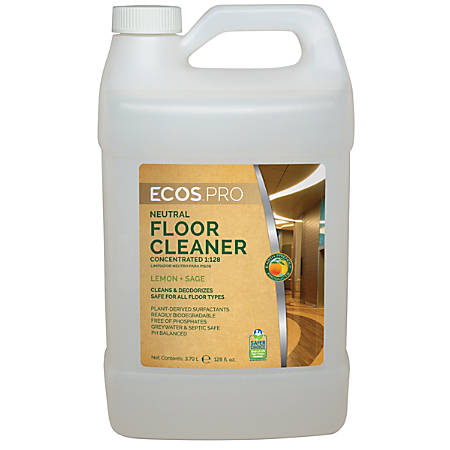Earth Friendly Products Concentrated Floor Cleaner, Lemon-Sage, 128 Oz