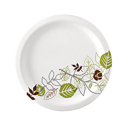 """Dixie® Ultra Heavy-Weight Oval Platters, 8 1/2"""" x 11"""", Pathways, Green/Burgundy, Carton Of 500"""