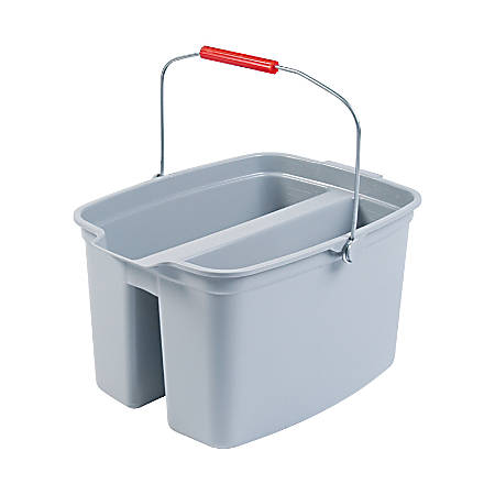 Rubbermaid® Brute Double Utility Pail, 17 Qt, Gray