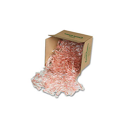 Spangler Mini Red And White Peppermint Candy Canes, 0.15 Oz, 500 Per Pack, Case Of 2