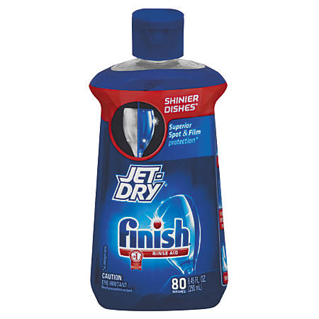 Jet Dry Dishwasher Liquid Rinse Additive With Shine Boost, Original Scent, 8.45 Oz, Case Of 8