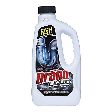 Drano® Liquid Clog Remover And Liquid Drain Cleaner, 32 Oz, Case Of 12