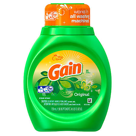 Gain Liquid Laundry Detergent, Original Fresh, 25 Oz, Case Of 6