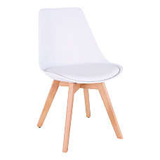 Lorell Curved Plastic Shell Guest Chair