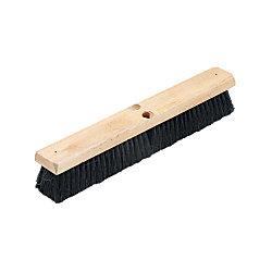 """Proline Brush Hardwood Block Floor Broom Head, 2 1/2"""" Tampico Fiber Bristles, 18"""", Black"""