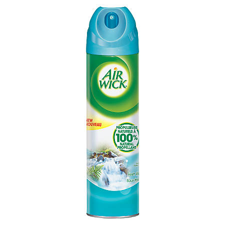 Air Wick® 4-In-1 Air Freshener Spray Cans, Fresh Waters, 8 Oz, Case Of 12