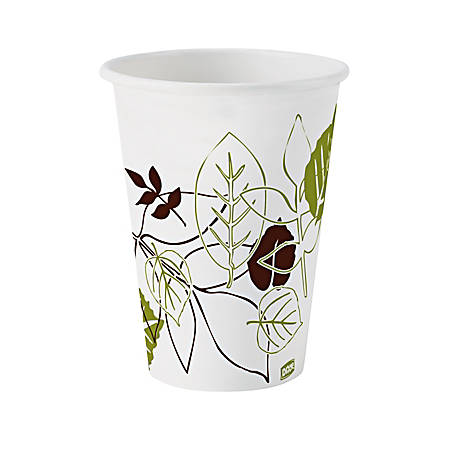 Dixie® Pathways® Paper Hot Cups, Leaves, 16 Oz, Carton Of 1,000
