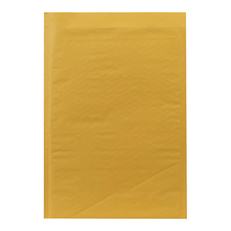 """Sealed Air Self-Seal Bubble Mailers, Size #5, 10 1/2"""" x 15"""", Satin Gold, Pack Of 80"""