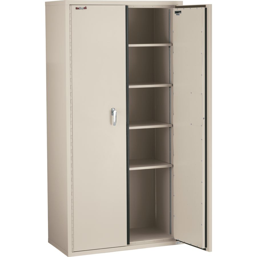 Merveilleux FireKing Fire Resistant Storage Cabinets 4 Adjustable Shelves 72 H X 36 W  Parchment White Glove Delivery By Office Depot U0026 OfficeMax