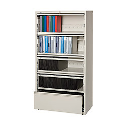 Workpro 5 Drawer Roll Out Shelf Lateral File Cabinet 68