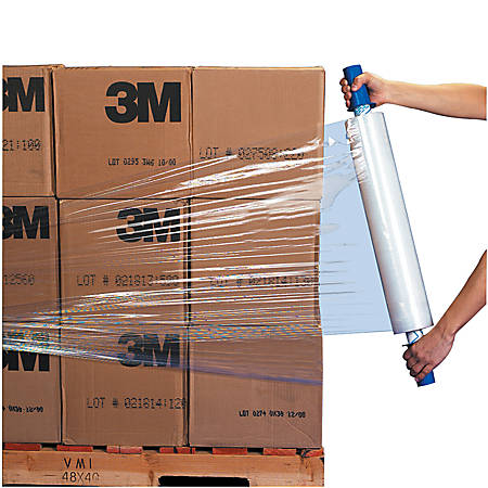 "GoodWrappers® Stretch Film, Economy Cast Film, 80 Gauge, 20"" x 1000', Clear, Pack Of 4"