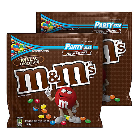 M&M's® Milk Chocolate Candy, 42 Oz, Pack Of 2