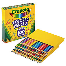 Crayola 100 Colored Pencils Assorted Lead
