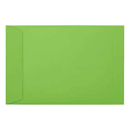 "LUX Open-End Envelopes With Peel & Press Closure, #6 1/2, 6"" x 9"", Limelight, Pack Of 50"