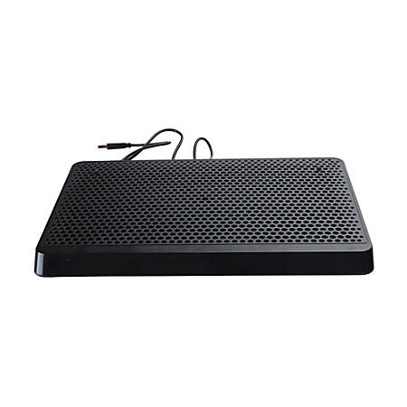 "Mind Reader USB-Powered Laptop Cooling Pad, 1""H x 13.18""W x 9.5""D, Black, LCOOLPAD-BLK"