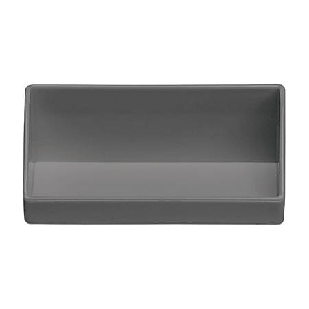 "MadeSmart Business Card Holder, 2""H x 4 1/4""W x 1 5/8""D, Gray"