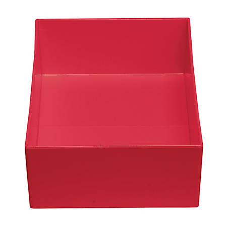 "MadeSmart Office Bin, 11 1/4""H x 5 1/8""W x 2 1/4""D, Red"