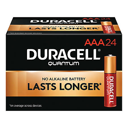 Duracell® Quantum Alkaline AAA Batteries, Pack Of 24, Case Of 6