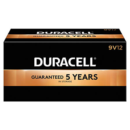 Duracell® Coppertop 9-Volt Alkaline Batteries, Pack Of 12
