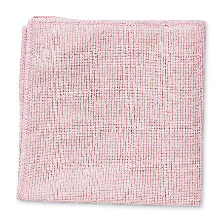 """Rubbermaid® Microfiber Cleaning Cloths, 16"""" x 16"""", Red, Pack Of 24"""