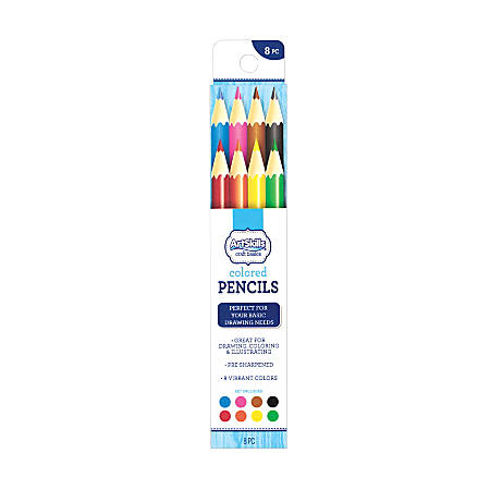 Artskills Premium Color Pencils 25 Mm Assorted Colors Pack Of 8 By - Premium-color-pencils