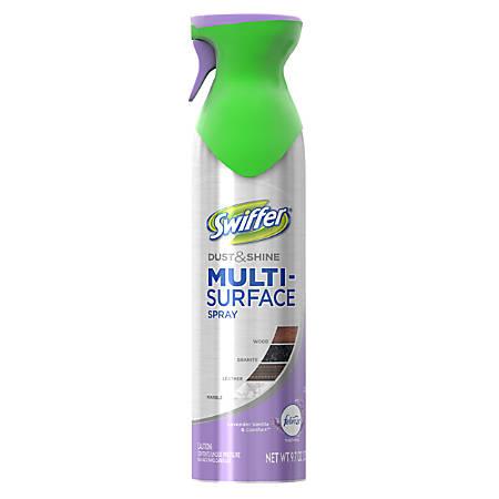 Swiffer Dust/Shine Multi-surface Spray - Spray - 9.70 fl oz - Vanilla Lavender Scent - 6 / Carton - Silver, Green