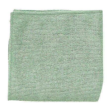 "Rubbermaid® Microfiber Cloths, 16"" x 16"", Green, Case Of 288"