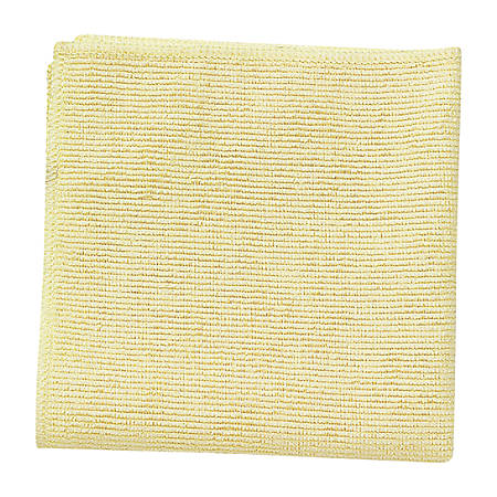 """Rubbermaid® Light Commercial Microfiber Cloths, 16"""" x 16"""", Yellow, Case Of 288"""