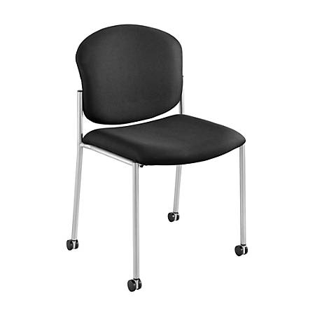 Safco® Diaz Stacking Guest Chair, Black