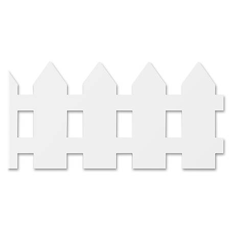 "Hygloss White Fence Design Border Strips - 12 (Fence) Shape - Long Lasting, Durable, Damage Resistant - 36"" Height x 3"" Width - White - 12 / Pack"