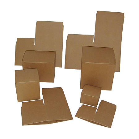 """OfficeMax® Kraft Boxes, 6"""" x 4 1/2"""" x 4 1/2"""", Pack Of 100"""