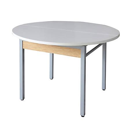 Z-Line Designs Z-Tech Modular Round Table, Oak/Silver/White