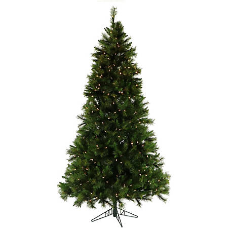 Fraser Hill Farm Artificial Canyon Pine Christmas Tree With Smart String Lighting, 6.5'