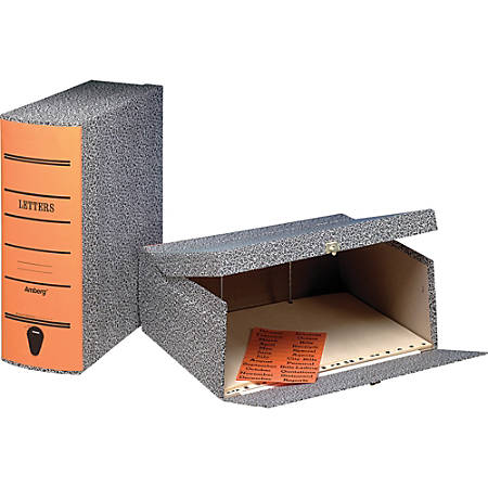 "Pendaflex Oxford Box Files - Internal Dimensions: 2.50"" Depth - External Dimensions: 11.6"" Width x 2.3"" Depth x 11"" Height - Media Size Supported: Letter - Hinged Closure - Black Marble, Orange - For File - Recycled - 1 Each"