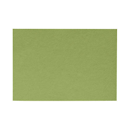 """LUX Flat Cards, A7, 5 1/8"""" x 7"""", Avocado Green, Pack Of 500"""