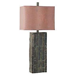 Kenroy Ripple Table Lamp SlateCinnamon