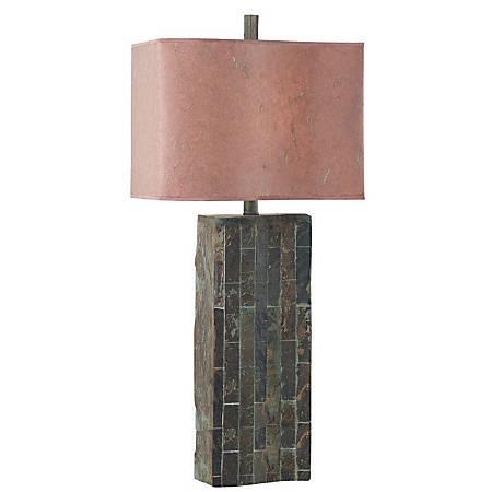 Kenroy Ripple Table Lamp, Slate/Cinnamon