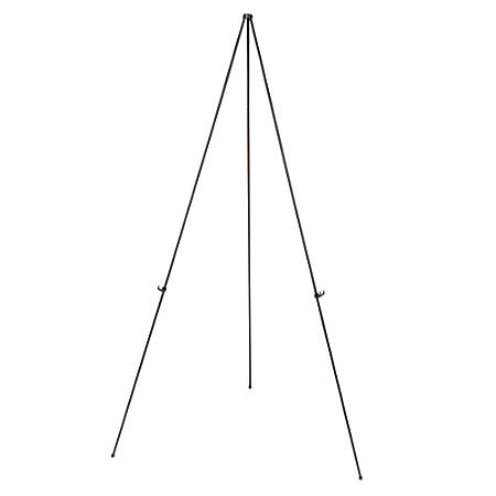 """MasterVision® Instant Display Easel, Light Duty, 15"""" to 63"""" High, Steel, Black"""