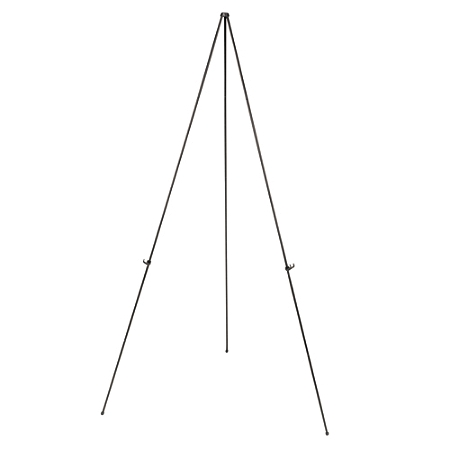 "MasterVision® Instant Display Easel, Light Duty, 15"" to 63"" High, Steel, Black"
