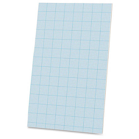 """Ampad Cross - section Quadrille Pads - Legal - 40 Sheets - Glue - 20 lb Basis Weight - 8 1/2"""" x 14"""" - White Paper - Chipboard Backing - 40 / Pad"""