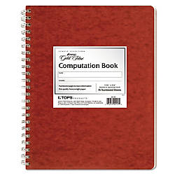 Ampad Retro Computation Notebook 75 Sheets