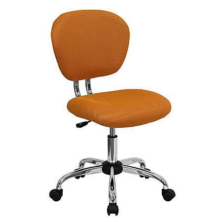 Flash Furniture Mesh Mid-Back Swivel Task Chair, Orange/Silver