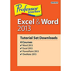 Professor Teaches Excel And Word 2013