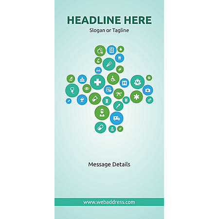 Custom Vertical Banner, Health Icons