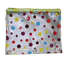 Inkology Transparent Dot Binder Pencil Pouches