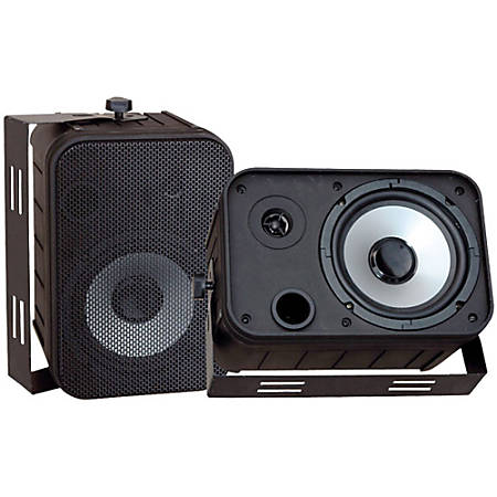 Pyle PylePro PDWR50B 250 W RMS - 500 W PMPO Indoor/Outdoor Speaker - 2-way - 2 Pack - Black